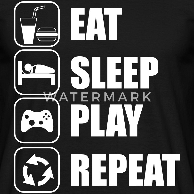 Eat,sleep,play,repeat Gamer Gaming  - Camiseta hombre