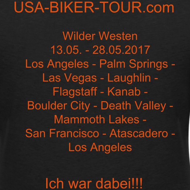 Damen-Shirt Tour Wilder Westen 03/2017