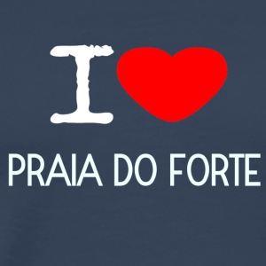 I LOVE PRAIA DO FORTE - Männer Premium T-Shirt