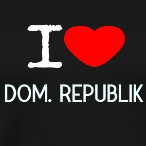 I LOVE DOM. REPUBLIK - Männer Premium T-Shirt