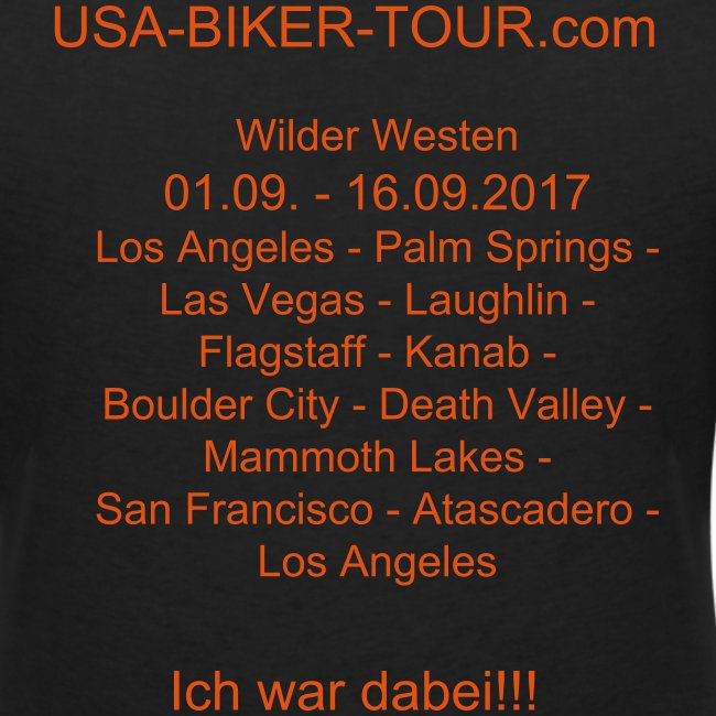 Damen-Shirt Tour Wilder Westen 06.1/2017