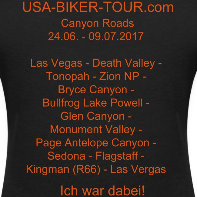 Damen-Shirt Tour Canyon Roads 2017