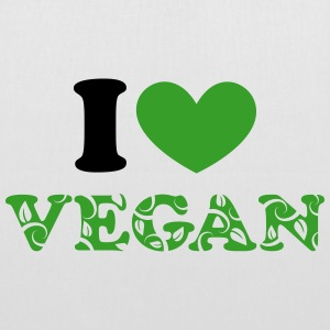 I heart vegan green, animal protection, save earth Bags & Backpacks - Tote Bag