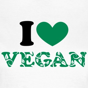 I heart vegan, hjerte, grøn, planter power, i love T-shirts - Dame-T-shirt