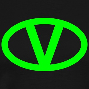 V like vegan symbol comic style, save earth nature T-shirts - Herre premium T-shirt
