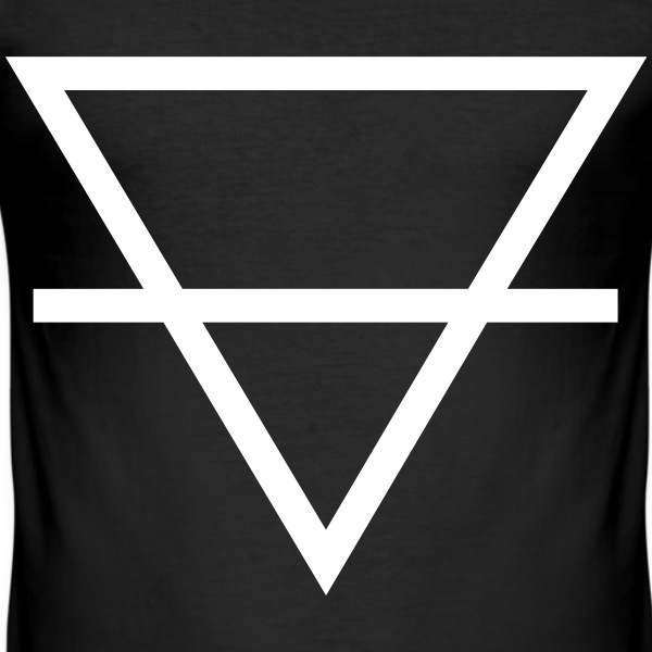 Minimalistic Triangle T-Shirts - Männer Slim Fit T-Shirt