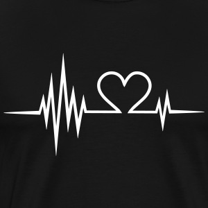 Pulse, frequency, heartbeat, Valentines Day, heart T-Shirts - Men's Premium T-Shirt