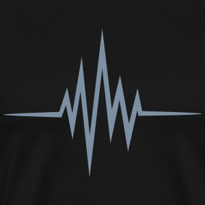 Pulse, frequency, heartbeat, music, heart rate T-Shirts - Men's Premium T-Shirt