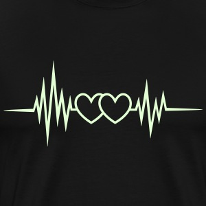 Heart rate, pulse, heartbeat, frequency, I love  T-Shirts - Men's Premium T-Shirt