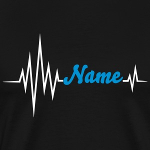 Your name pulse, frequency, heartbeat, party music T-Shirts - Men's Premium T-Shirt
