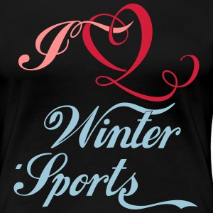I love Winter Sports T-Shirts - Frauen Premium T-Shirt