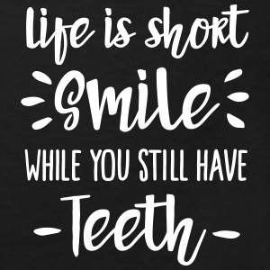 Life is short,  smile, while you still have teeth Shirts - Kinderen Bio-T-shirt