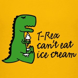 T-rex can't eat ice cream T-shirts - Teenager premium T-shirt