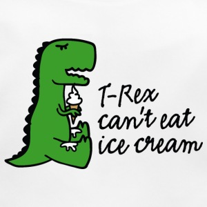 T-rex can't eat ice cream Babyhaklapp - Ekologisk babyhaklapp