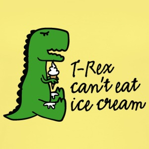 T-rex can't eat ice cream Top - Top da donna ecologico