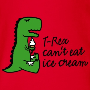 T-rex can't eat ice cream Baby Bodysuits - Organic Short-sleeved Baby Bodysuit