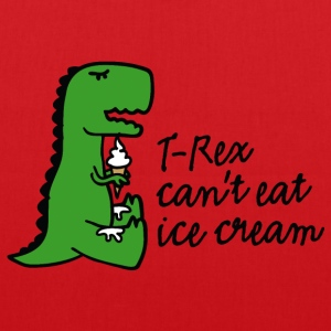 T-rex can't eat ice cream Bags & Backpacks - Tote Bag