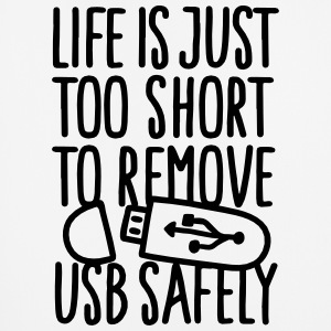 Life is just too short to remove USB safely Övrigt - Musmatta (stående format)