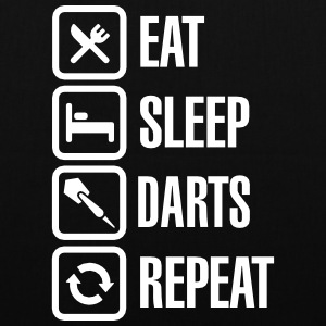 Eat - Sleep - Darts - Repeats Borse & Zaini - Borsa di stoffa
