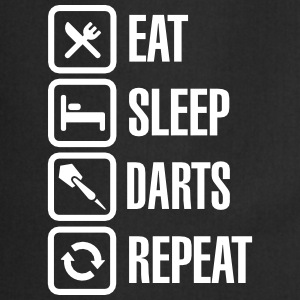 Eat - Sleep - Darts - Repeats Kookschorten - Keukenschort