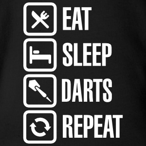 Eat - Sleep - Darts - Repeats Babybody - Ekologisk kortärmad babybody