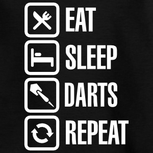 Eat - Sleep - Darts - Repeats T-shirts - T-shirt barn