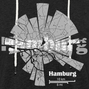 Hamburg Map - Sweat-shirt à capuche léger unisexe