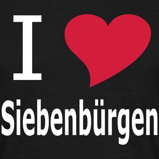 """T-Shirt """"I love Siebenbürgen"""" Transylvania - Erdely - Ardeal - Transilvania - Romania - Rumänien"""