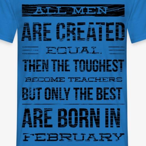 leraren jarig in februari geboren