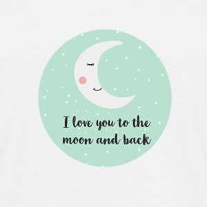 i_love_you_to_the_moon_and_back_ T-Shirts - Männer T-Shirt