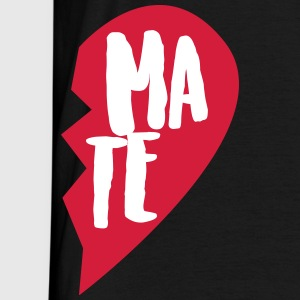 Sort Soul Mate Couple Shirt T-shirts - Herre-T-shirt