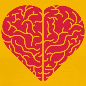 Lovely heart shaped brain T-Shirts - Men's Premium T-Shirt