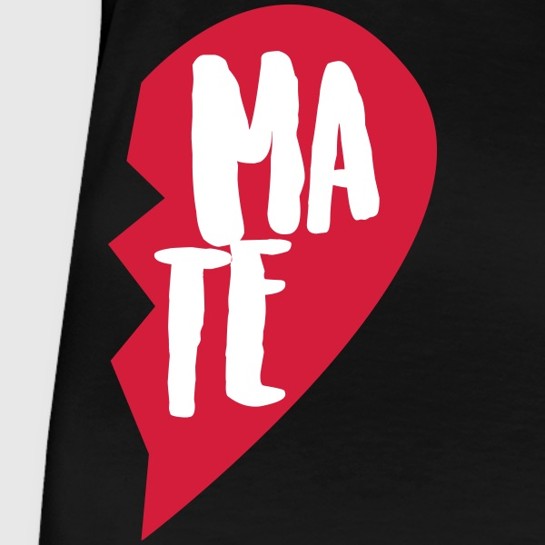 Svart Soul Mate Couple Shirt T-skjorter - Premium T-skjorte for kvinner