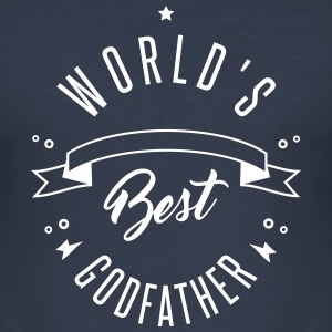 WORLD'S BEST GODFATHER - Men's Slim Fit T-Shirt