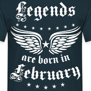 Legends are born in February Birthday T-Shirt  - Männer T-Shirt