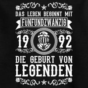 1992 - 25 Jahre - Legenden 2 - 2017 T-Shirts - Teenager T-Shirt