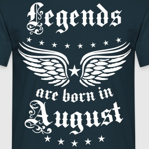 Legends are born in August Geburtstag T-Shirt - Männer T-Shirt