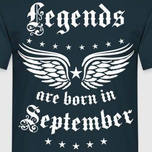 Legends are born in September Geburtstag T-Shirt - Männer T-Shirt
