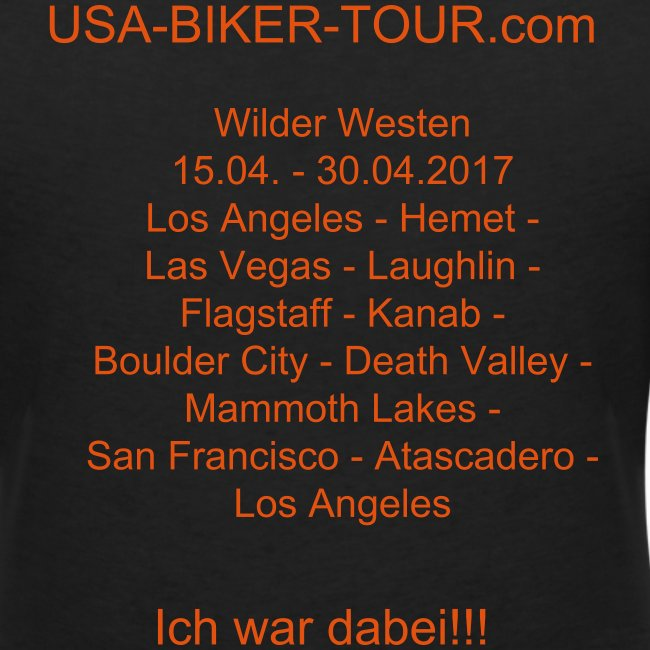Damen-Shirt Tour Wilder Westen 01/2017