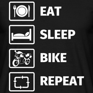 EAT SLEEP BIKE REPEAT T-shirts - Herre-T-shirt