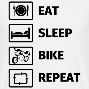 EAT SLEEP BIKE REPEAT T-Shirts - Men's T-Shirt