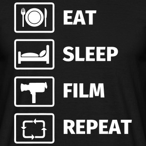 EAT SLEEP FILM REPEAT T-shirts - Herre-T-shirt