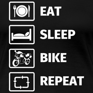 EAT SLEEP BIKE REPEAT T-Shirts - Women's Premium T-Shirt