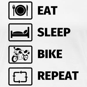 EAT SLEEP BIKE REPEAT T-shirts - Vrouwen Premium T-shirt