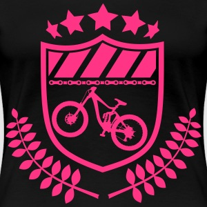 Wappen Fullsuspension Bike 200mm MTB Downhill Ride T-Shirts - Frauen Premium T-Shirt