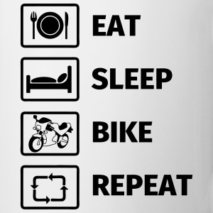 EAT SLEEP BIKE REPEAT Bouteilles et Tasses - Tasse