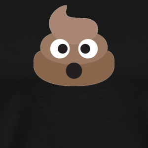 Poo Emoji Face! Retro Design! - Men's Premium T-Shirt