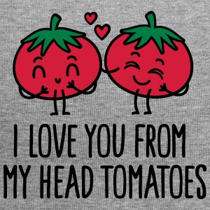 I love you from my head tomatoes Kasketter & huer - Jersey-Beanie