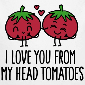 I love you from my head tomatoes Baby Bodysuits - Longlseeve Baby Bodysuit