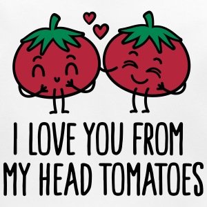 I love you from my head tomatoes Baby Bibs - Baby Organic Bib
